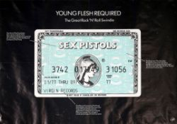 Sex Pistols - Banned Amex poster, entitled Young Flesh Required but appropriating the American