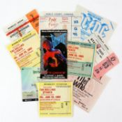 A group of 29 concert tickets and stubs from 1980s-2000s - mostly for rock groups,