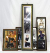 Collection of Film, music and TV related framed memorabilia items from the Tony Parker Collection