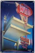 The Who - original poster for the Oakland Stadium concert, August 29-30 1989, rolled,
