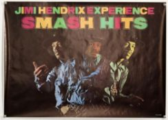 Jimi Hendrix Experience Smash Hits - An English poster from the 1970's, rolled, 63 x 88 cm.