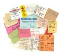 A group of 21 New Wave concert tickets and stubs - mostly from the early 1980s including The