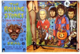 The Rolling Stones - Trick or Treat 1994 American tour poster, flat, 28 x 18 1/2 inches.