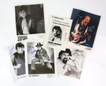 Music - Signed photos including Del Shannon, Bo Diddley, Frankie Ford, Bobby Vee,