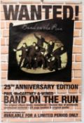 Paul McCartney - Two Driving Rain promo posters and a Ban on the Run promo poster, rolled,