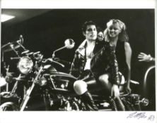 Queen - Original 10 x 8 inch Black and white silver gelatin print showing Freddie Mercury on a