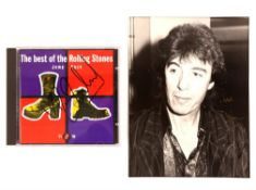 The Rolling Stones - a CD autographed on the insert by Ronnie Wood, The best of the Rolling Stones