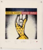 The Rolling Stones - Voodoo Lounge Limited edition print, hand numbered 4400/5000, rolled,