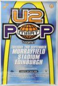 U2 Pop Mart (1997) Tour poster, Murrayfield, Edinburgh, 2nd Sept 1997, rolled, 40 x 60 inches.