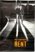 The Pet Shop Boys - promotional poster for the single Rent (1987), rolled, 40 x 60 inches.