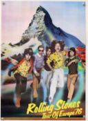 The Rolling Stones - two tour posters for the New Zealand Tour 1973, signed by the artist,