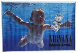 Nirvana Nevermind (1991) Original promo poster, the iconic image featuring an underwater baby