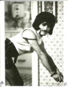 Queen - Original 10 x 8 inch Black and white silver gelatin print showing Freddie Mercury on the