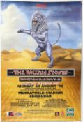 Rolling Stones Bridges To Babylon (1998) tour poster, this for Murrayfield, Edinburgh,