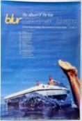 Blur The Great Escape (1995) Britpop LP promo poster, also advertising the associated sixteen date