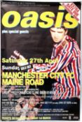 Oasis - Manchester City Football Club concert poster for performances on 27th-28th April 1996 at