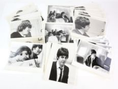 The Beatles - 30 x Original 10 x 8 inch photographs most showing The Beatles flying on TWA Airlines,
