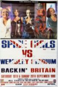 The Spice Girls - Backin' Britain concert poster for Wembley Stadium 19th-20th September 1998,
