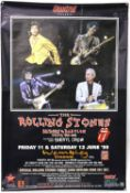 The Rolling Stones - Two Bus Stop music posters for Bridges to Babylon and You Can't Lick 'Em,