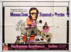 20 British Quad film posters including Funeral in Berlin, The Night of the Generals,
