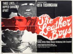 The Leather Boys (1964) British Quad film poster, British Drama starring Rita Tushingham, folded,