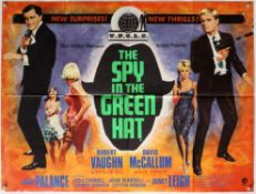 The Spy in the Green Hat (1967) British Quad film poster, The Man From UNCLE series, folded,