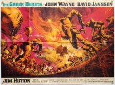 The Green Berets (1968) British Quad film poster, starring John Wayne, artwork by Frank McCarthy,
