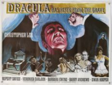 Dracula Has Risen From The Grave (1968) British Quad film poster, artwork by Tom Chantrell,