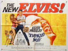 Elvis Presley Tickle Me (1965) British Quad film poster, artwork by Tom Chantrell, folded,