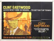 Coogans Bluff (1968) British Quad film poster, starring Clint Eastwood, Universal,