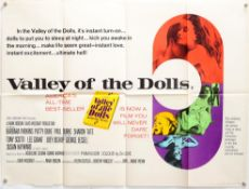 Valley Of The Dolls (1965) British Quad film poster, 20th Century Fox, folded, 30 x 40 inches.