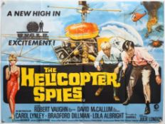 The Helicopter Spies (1968) British Quad film poster, The Man From UNCLE series, folded,