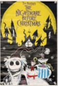 The Nightmare Before Christmas (1993) Two German A2 film posters, rolled, 16 x 23 inches. (2)