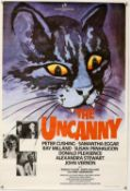 The Uncanny (1977) One Sheet film poster, starring Peter Cushing, Rank, rolled, 27 x 40 inches.