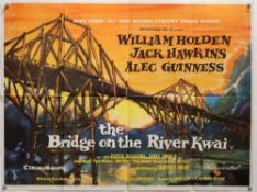 The Bridge on the River Kwai (R-1963) British Quad film poster, Academy Award release,