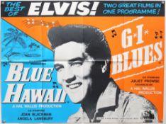 4 Elvis Presley British Quad film posters including Elvis on Tour, Clambake, Elvis The Movie,