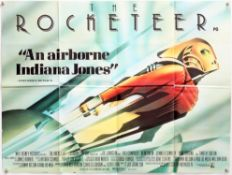 The Rocketeer (1991) British Quad film poster, Disney, folded, 30 x 40 inches.