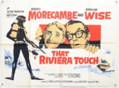 That Riviera Touch (1966) British Quad film poster, starring Morecambe & Wise, artwork by Renato