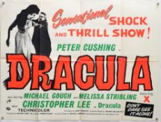 Dracula (R-1963) British Quad film poster, directed by Terence Fisher & starring Christopher Lee &