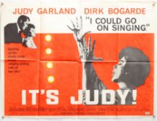 I Could Go On Singing (1962) British Quad film poster, starring Judy Garland and Dirk Bogarde,