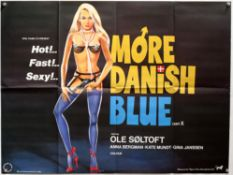20+ Erotic / Sex related British Quad film posters including Russ Meyer's Slaves / The 18 year old