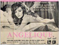 Angelique (1964) British Quad film poster, with 'X' certificate, folded, 30 x 40 inches.