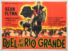 8 Western British Quad film posters including Duel at the Rio Grande, Return of the Seven,