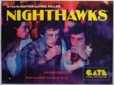 Nighthawks (1978) British Quad film poster, directed by Ron Peck and Paul Hallam, folded,