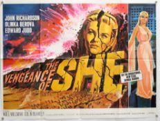 The Vengeance of She (1968) British Quad film poster, Hammer Film Production starring Olinka Berova,