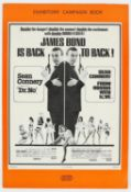 James Bond Dr. No / From Russia With Love (1960's) Double Bill Exhibitors' Campaign Book,