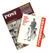 James Bond Thunderball (1965) Original fold out Synopsis, 20 x 26 cm and a Post Magazine from July