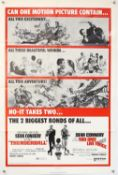 James Bond Thunderball / You Only Live Twice (1971) US One sheet film poster, starring Sean Connery,