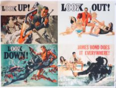 James Bond Thunderball (1965) Advance British Quad Advance film poster, The design features two