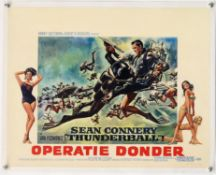 James Bond Thunderball (R-1970's) Belgian film poster, Dutch Language, starring Sean Connery,